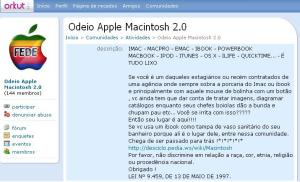 odeio apple